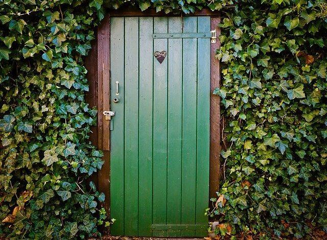 Puerta de madera bonita